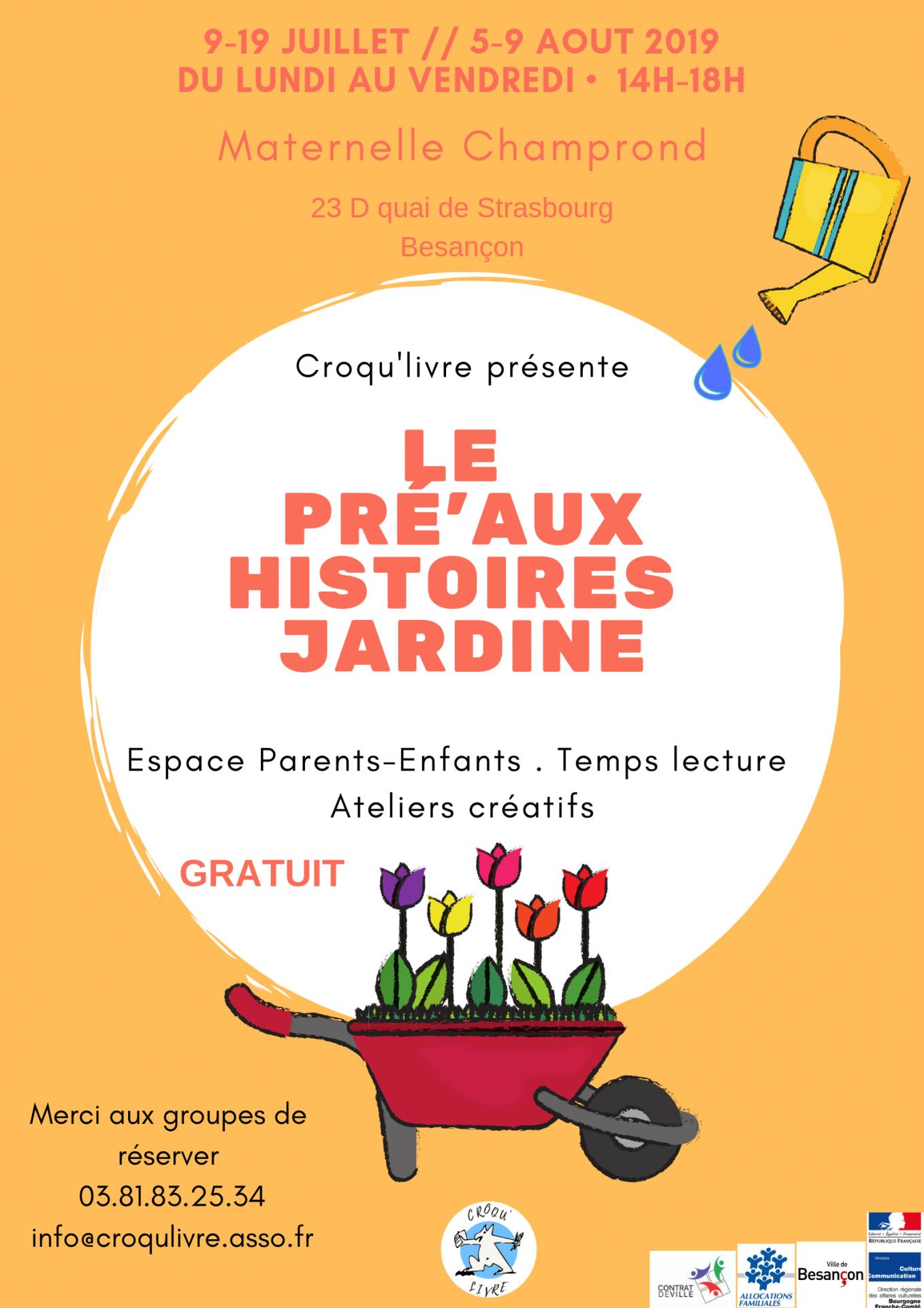 Croqu livre pre aux histoires 2019 poster 1