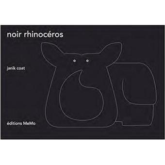 Noir rhinoceros